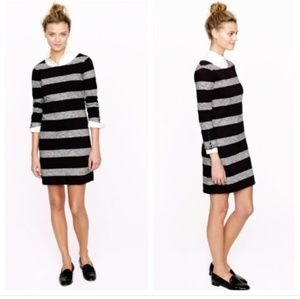 J crew grey/black striped maritime dress XS